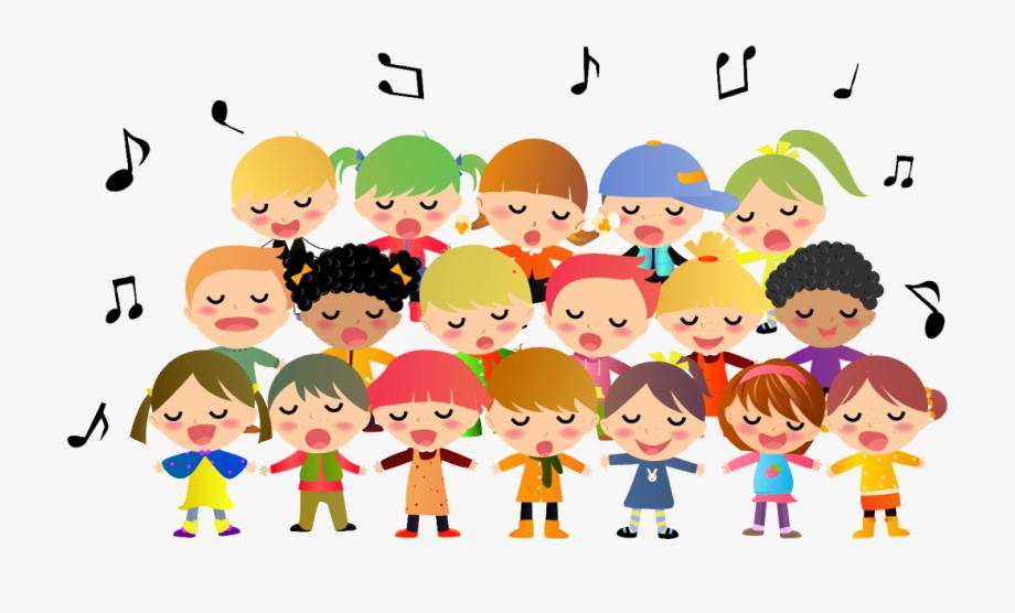 Children s singing cliparts. Choir clipart youth choir