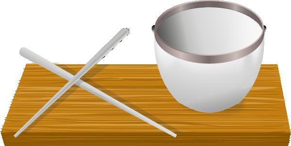 Chopsticks clipart bowl. Rice with clip art