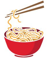 Of noodles and stock. Chopsticks clipart bowl