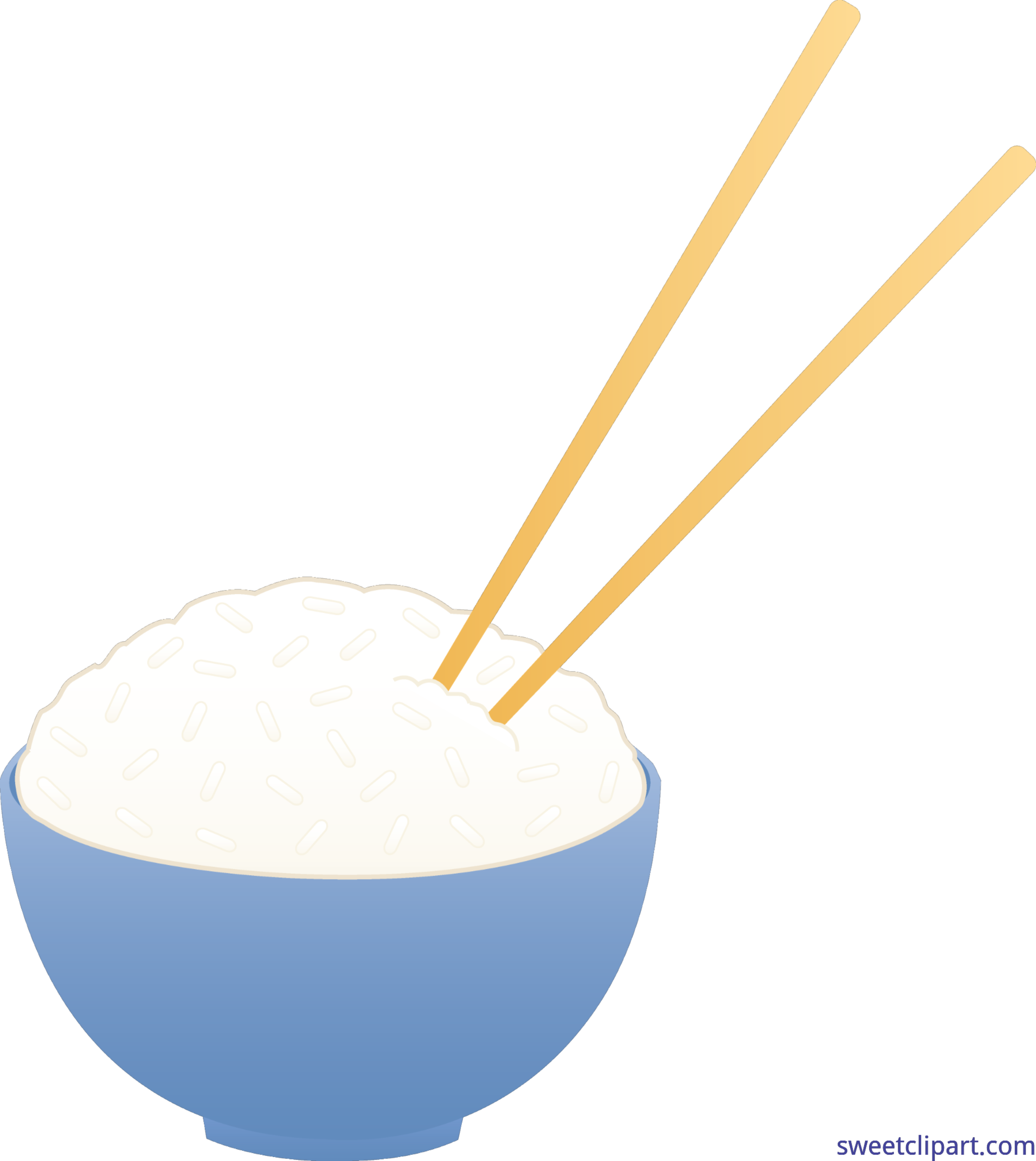Rice clip art sweet. Chopsticks clipart bowl