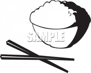 Chopsticks clipart bowl rice. Of and royalty free