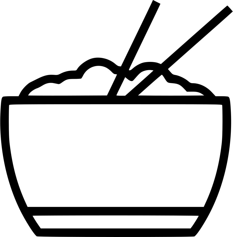Chopstick svg png icon. Chopsticks clipart bowl rice