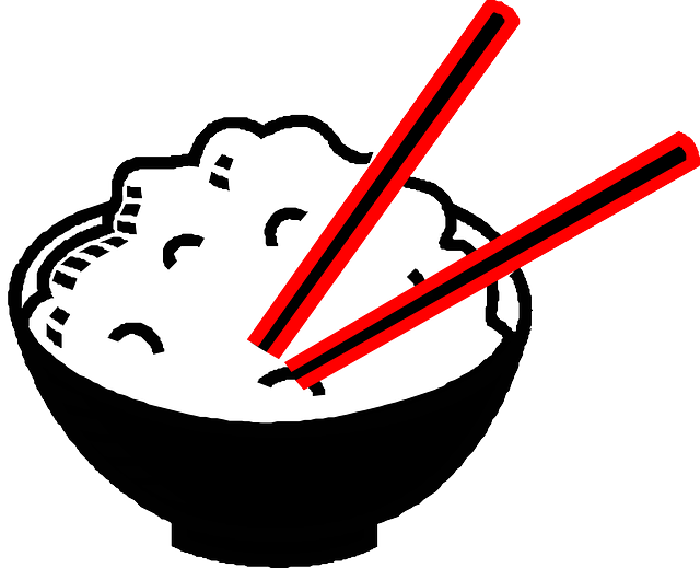 Chopsticks clipart bowl rice. Free image on pixabay
