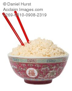 Chopsticks clipart chopstick rice. Stock photo of a