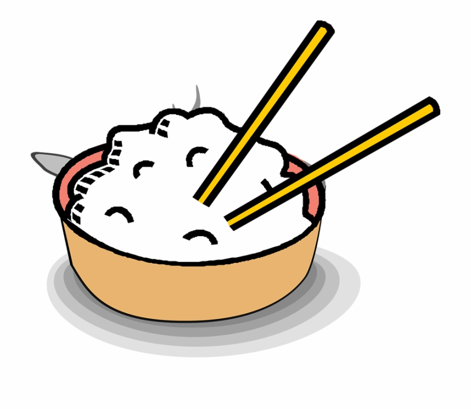 Chopsticks clipart chopstick rice. Bowl asian food eat