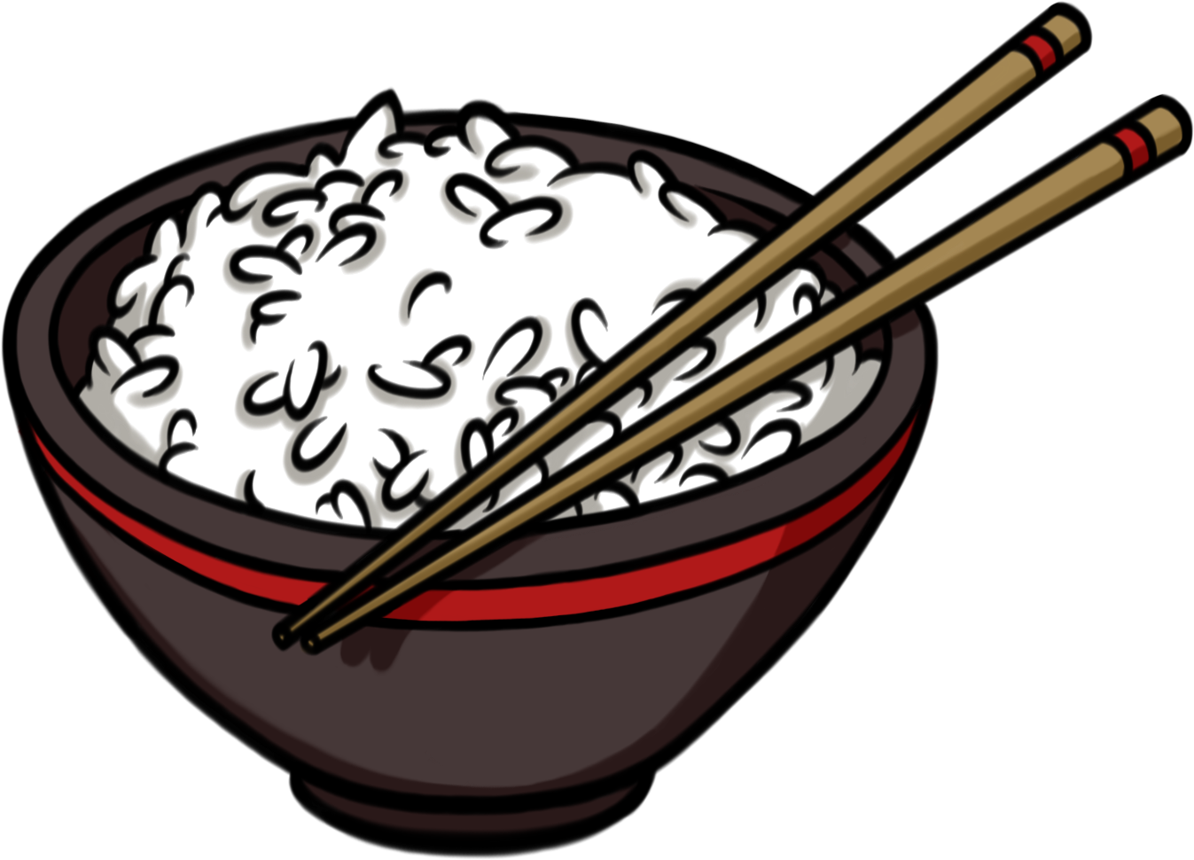 clipart fish rice