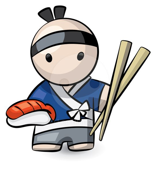 best jp illustrations. Japanese clipart sushi chef