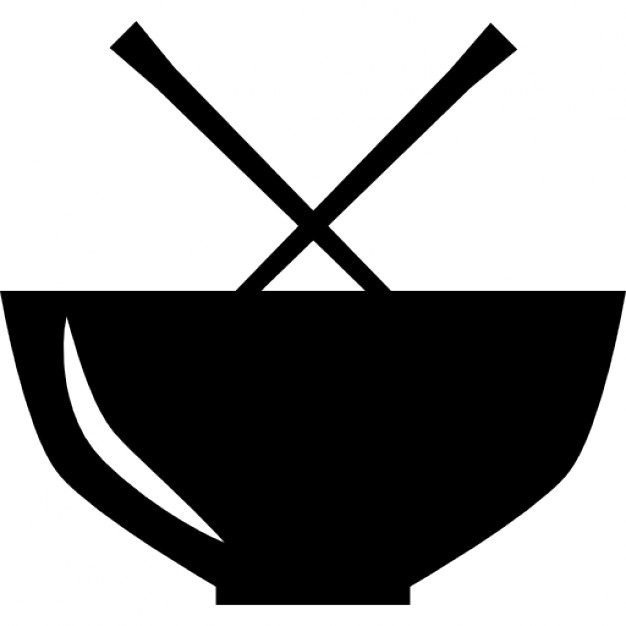 Chinese symbol for food. Chopsticks clipart logo
