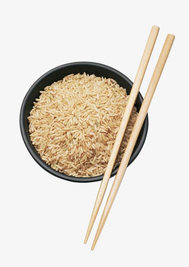 Brown bowl png image. Chopsticks clipart rice dish