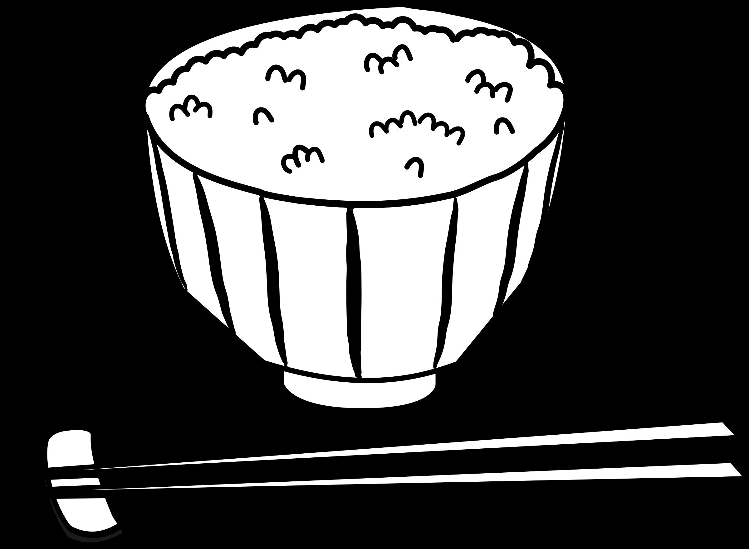 Rice bowl black white. Japanese clipart samurai japanese