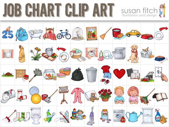 Chart clipart clip art. Job chore