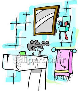Chore clipart bathroom. Sink with a leaky