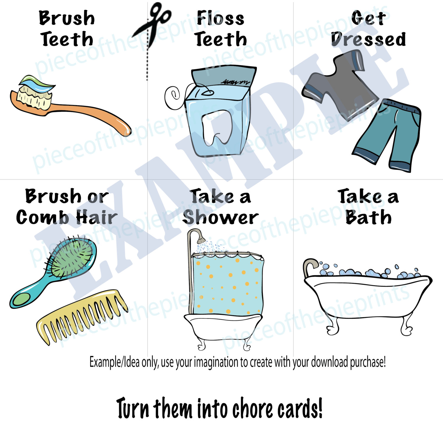 Instant download chores hand. Chore clipart bathroom
