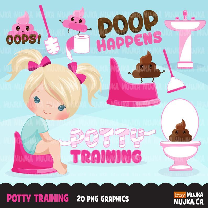 Potty training chores toilet. Chore clipart bathroom