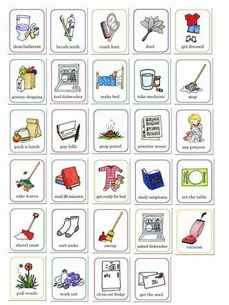 Image result for free. Chore clipart chore chart