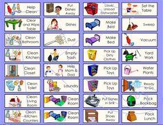 Free preschool system charts. Chore clipart chore chart