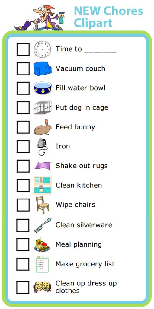 New the trip clip. Chore clipart chore chart
