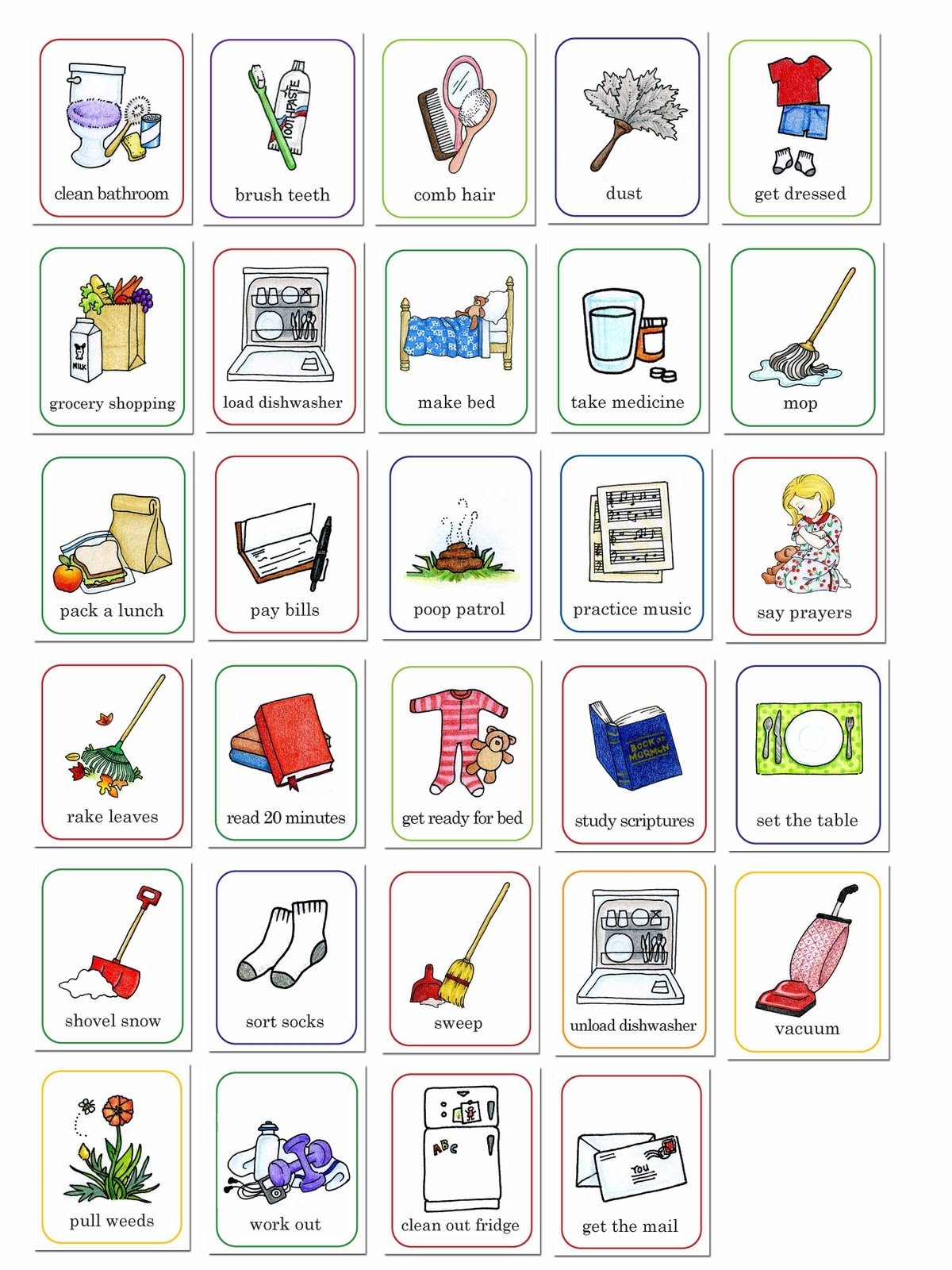 Best of chores collection. Chore clipart clip art