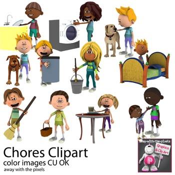 Chore clipart clip art. Chores household task adverbs