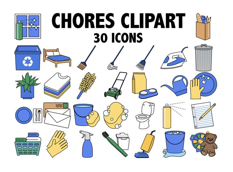 Chores clipart daily. Kids chore chart planner