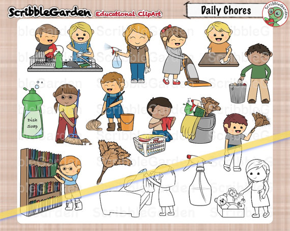 Cleaning from scribblegarden on. Chores clipart daily