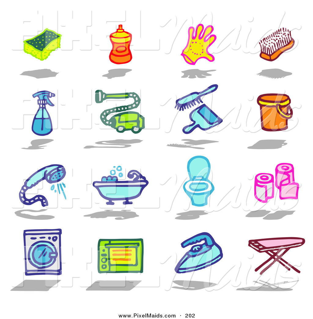 Brush clipart laundry. Dust chore pencil and
