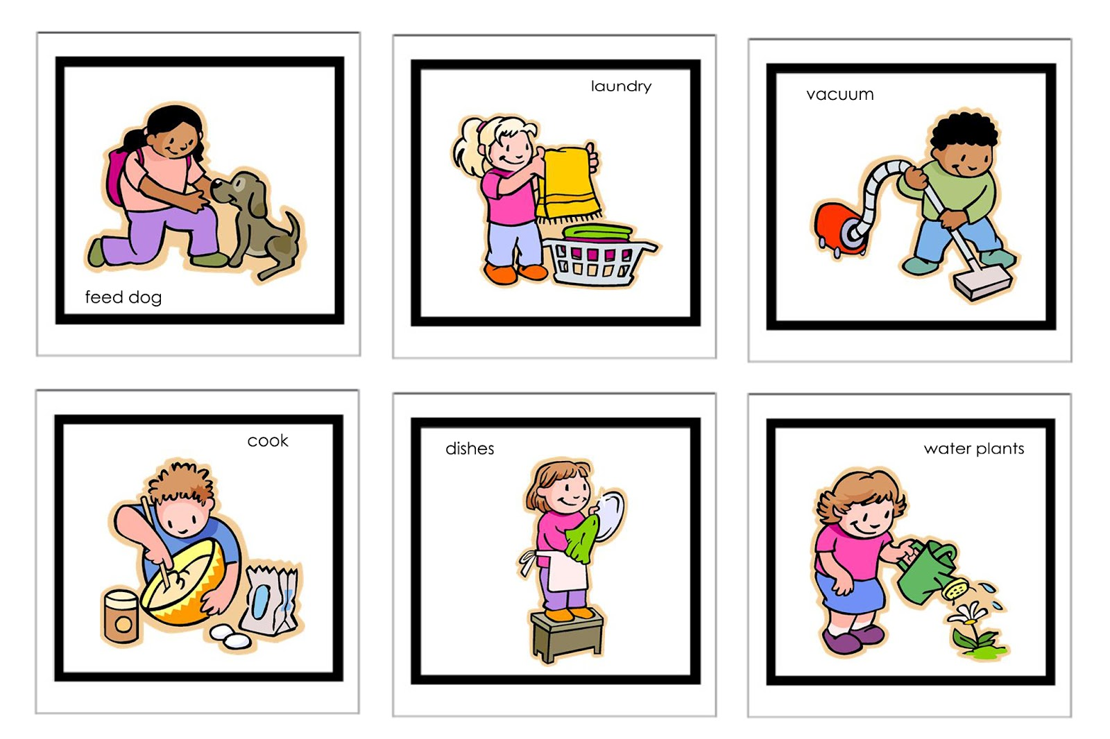 Chores clipart household activity.  clip art clipartlook