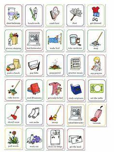 Chores clipart preschool. Job chart pictures susan