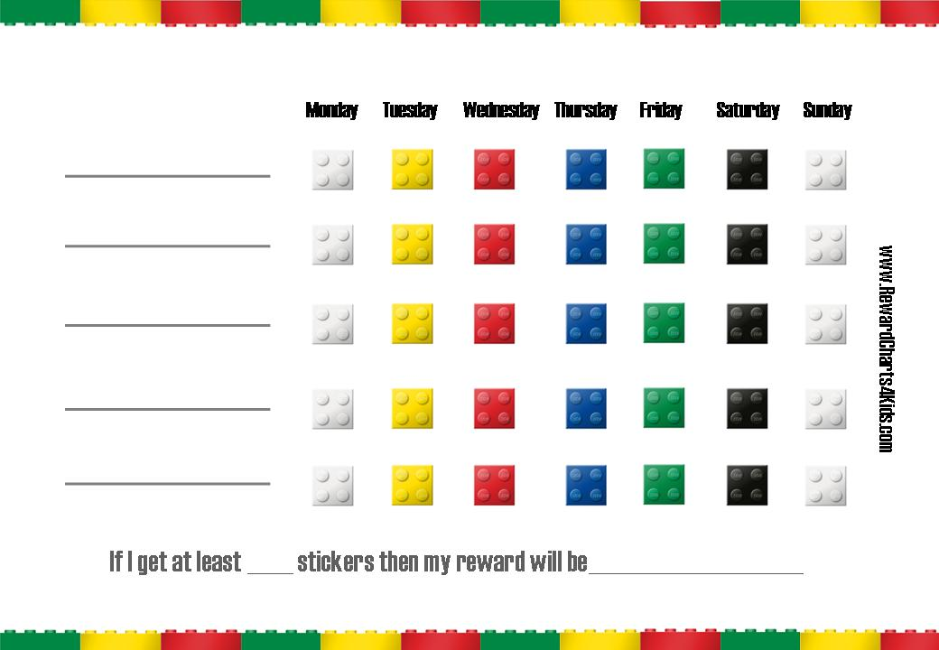 Lego charts printable behavior. Chore clipart homework