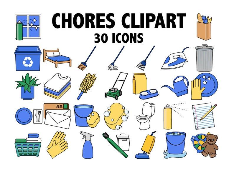 Clipart kid chore. Chores kids chart planner