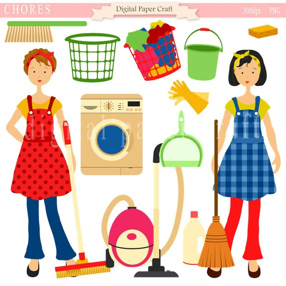 Maid clipart modern house. Housework cleaning home