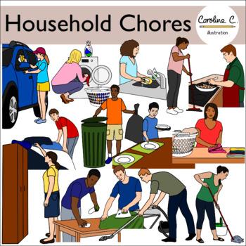 Chore clipart household chore. Chores clip art