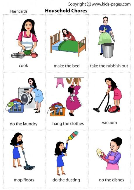 House incep imagine ex. Chore clipart household chore