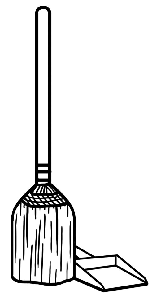 Sweep panda free images. Chore clipart janitorial