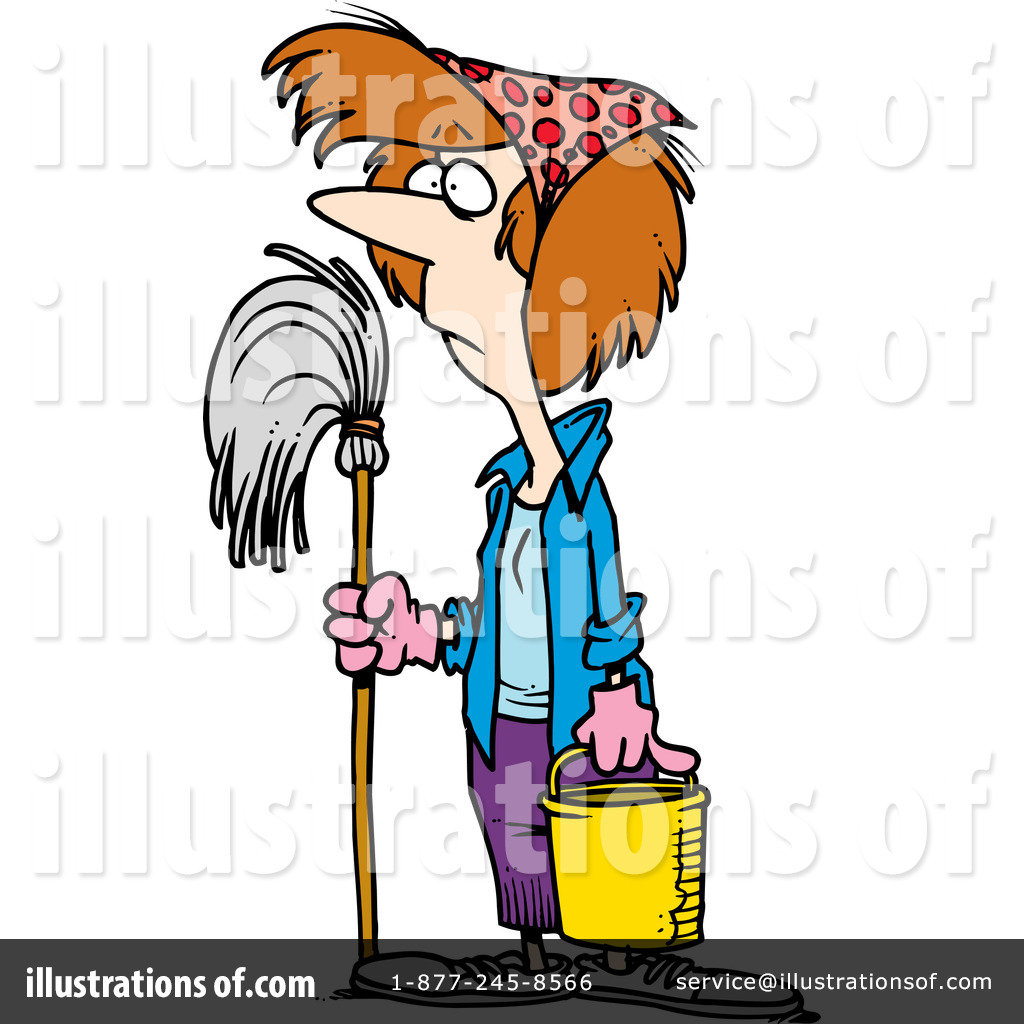 Janitor clipart. Illustration by toonaday royaltyfree