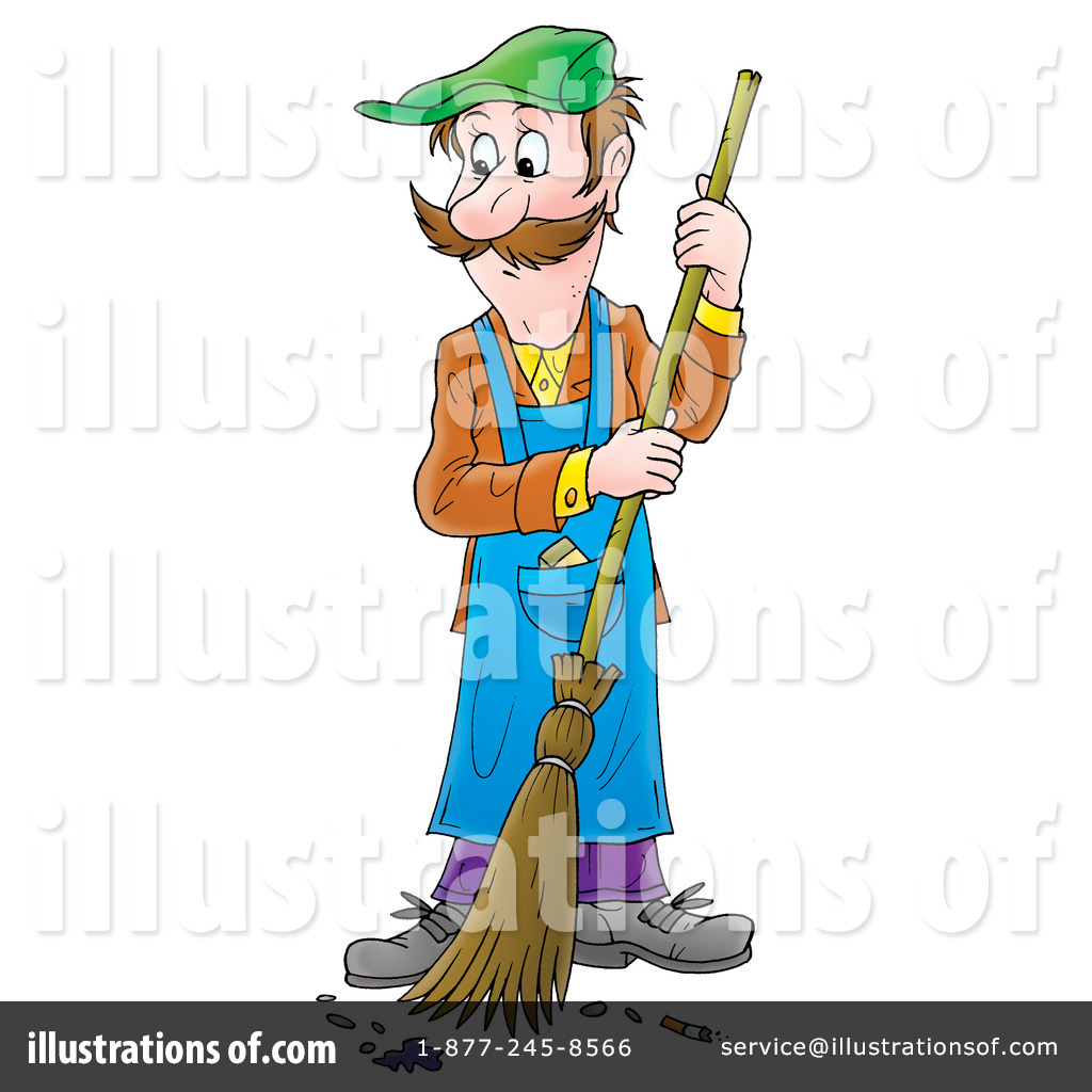 Chore clipart janitorial. Janitor illustration by alex