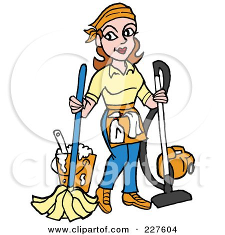 School clip art royalty. Maid clipart janitor