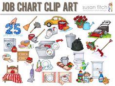 Chore clip art and. Chores clipart job chart
