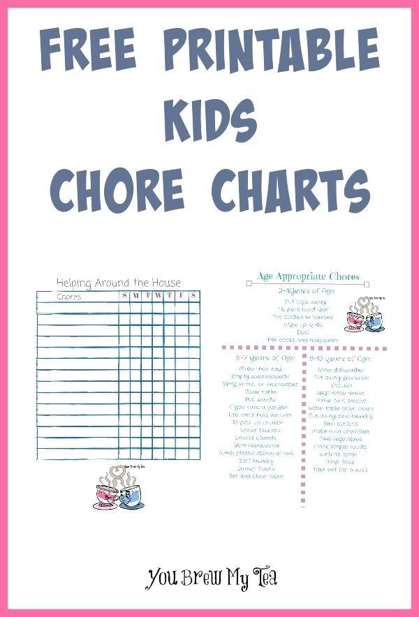 Chores clipart preschool. Free printable kids chore