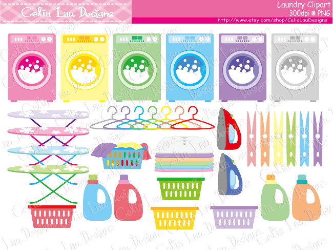 Chores clipart laundry. Digital cleaning clip art