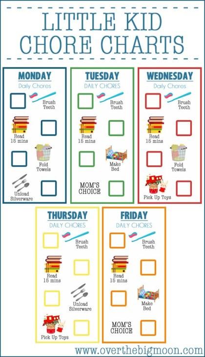 Chores clipart pre k. Little kid chore charts