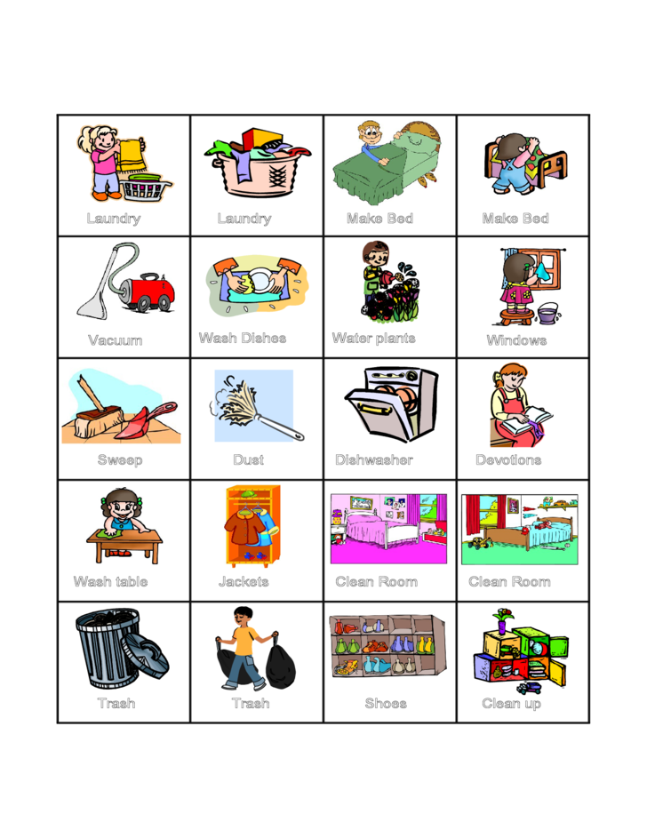 Word icon chart child. Dust clipart chore
