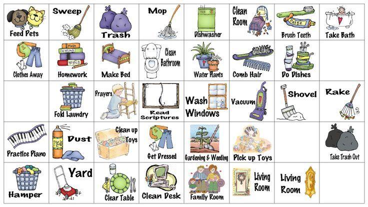 Chores clipart printable. Free clip art chore