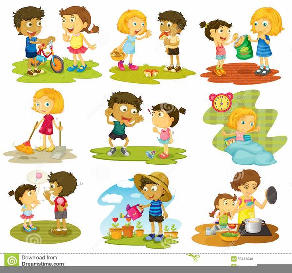 Free children doing chores. Chore clipart school
