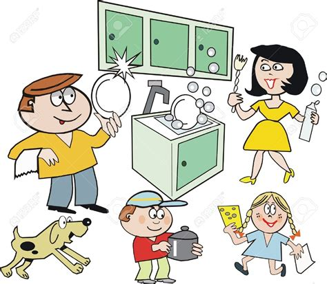 Kitchen chore clip art. Chores clipart to do