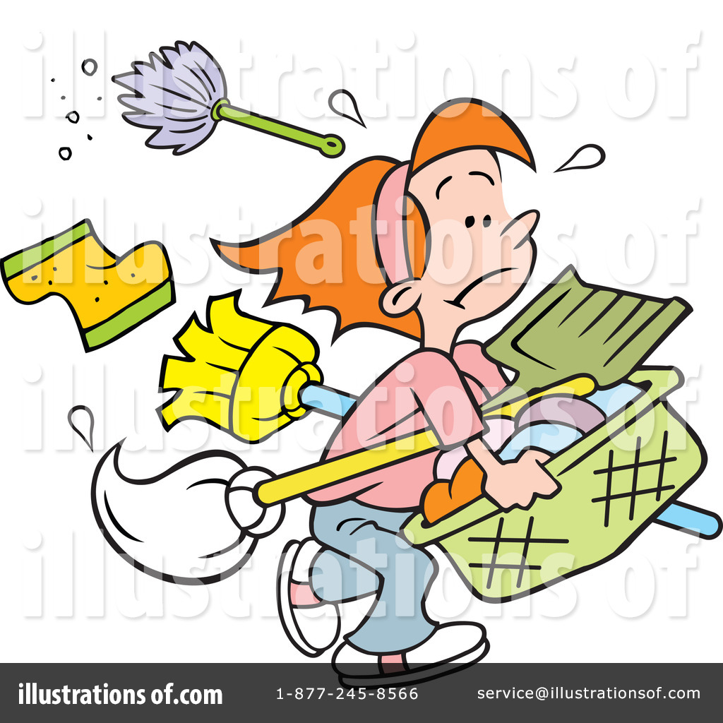 Illustration by johnny sajem. Chores clipart to do