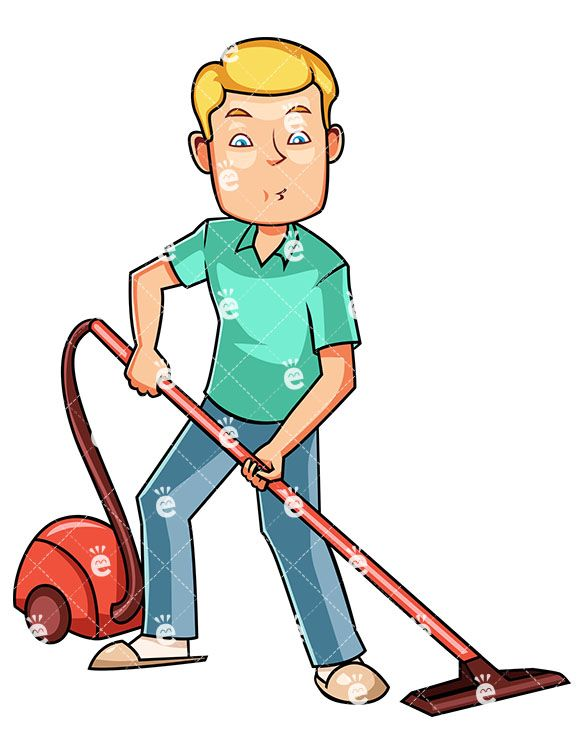 A man using canister. Clean clipart hospital housekeeping