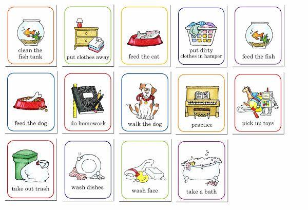 Free printable girls chore. Chores clipart job chart