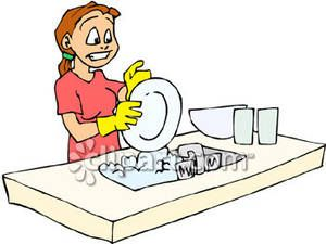 awesome daily pinterest. Chores clipart washing dish