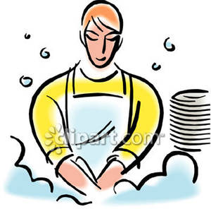 Chores clipart washing dish. Person dishes royalty free